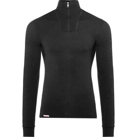 Woolpower Unisex 400 Zip Turtleneck black